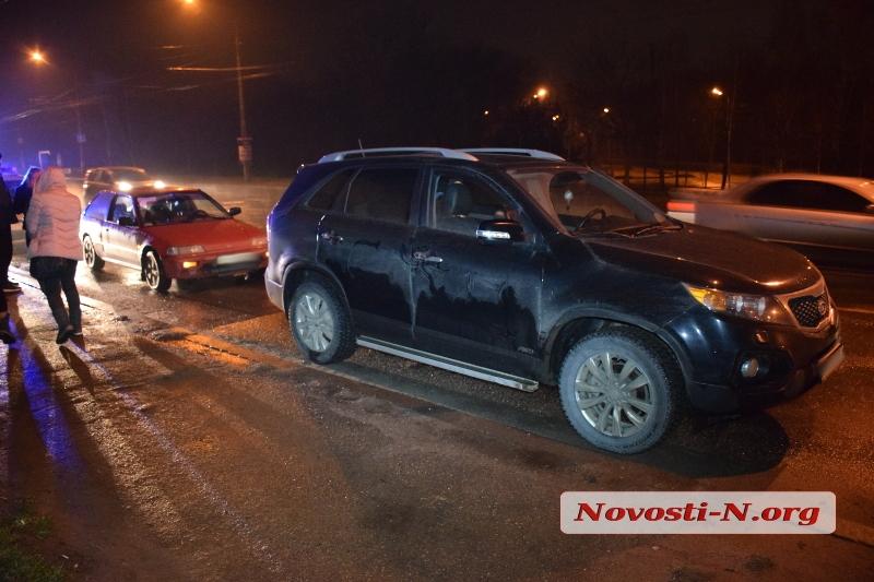 В Николаеве столкнулись две иномарки (фото)