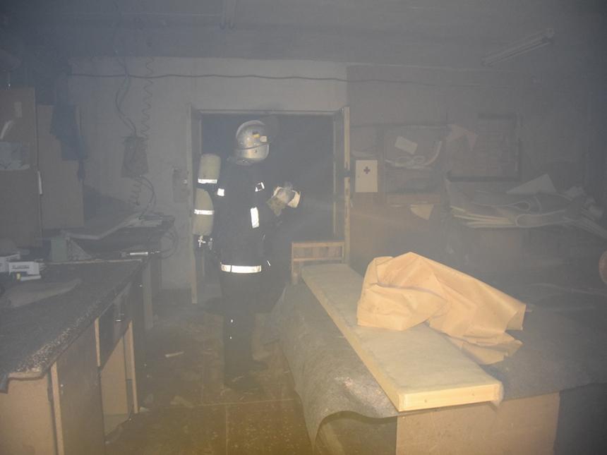 Николаевские спасатели боролись с огнем в помещении столярного цеха (фото) (видео)