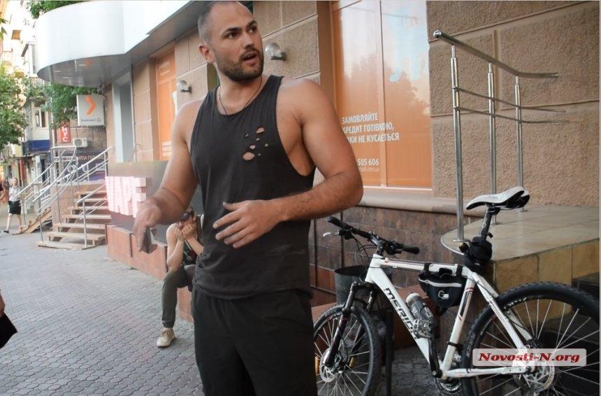 В Николаеве на велосипедиста, «припечатавшего» авто, открыли дело