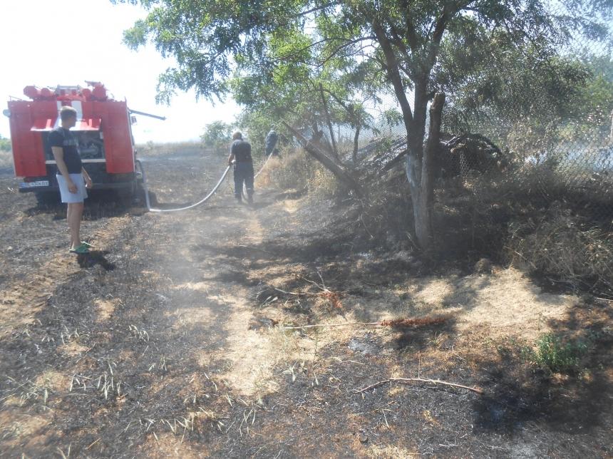 В селе на Николаевщине из-за баловства ребенка горели огороды на двух