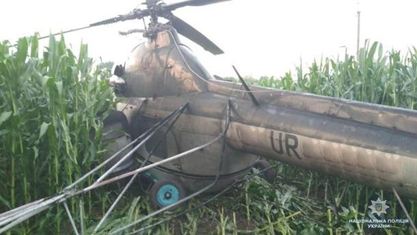 Наборту был пьяный пилот: наЧерниговщине вертолет врезался вЛЭП