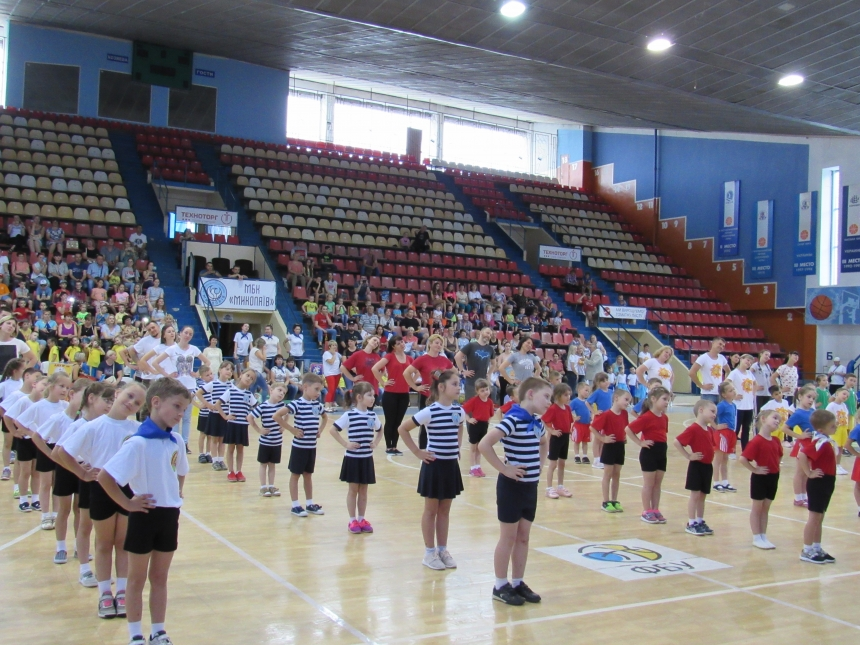 В Николаеве прошли «Веселые старты» среди воспитанников детских садов