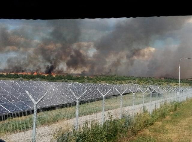 На Николаевщине за сутки дважды горели поля с пшеницей