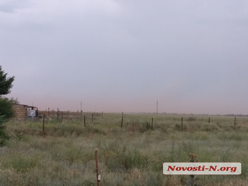 Село под Николаевом накрыло шламовой пылью с НГЗ
