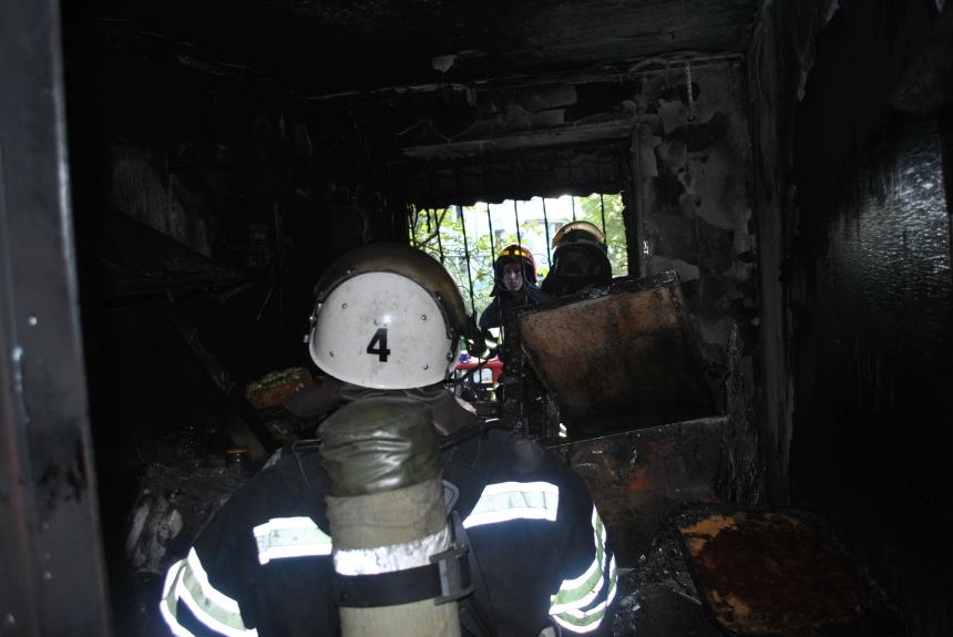 В Николаеве произошел пожар в квартире многоэтажки