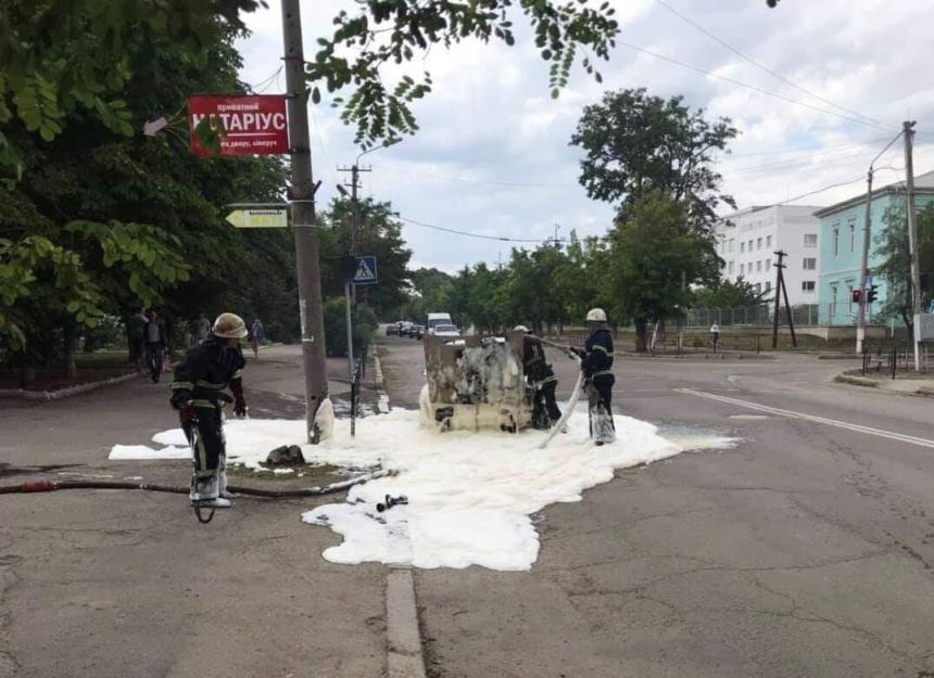На Николаевщине горели грузовик с прицепом и «ВАЗ»