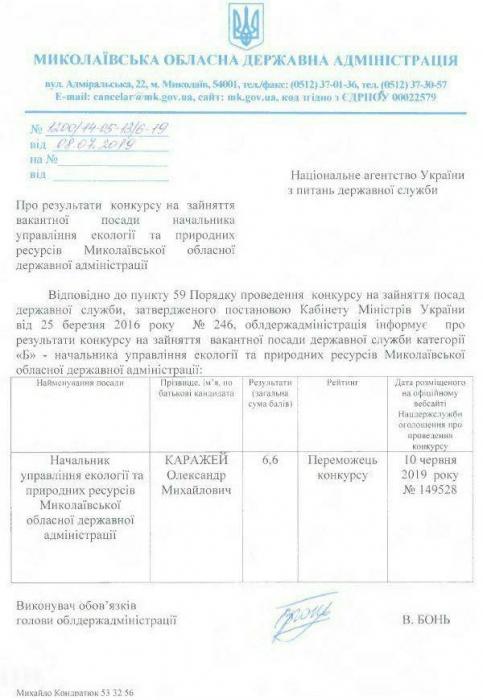 Депутат выиграл конкурс на должность начальника управления экологии в Николаевской области