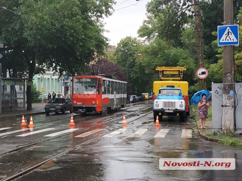 В Николаеве упавший огромный тополь полностью перегородил проезд по Потемкинской