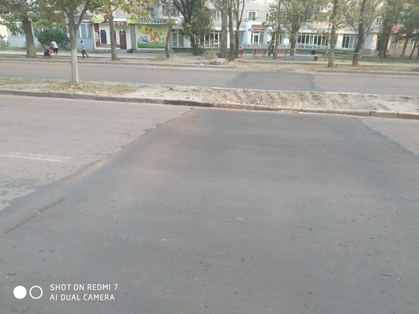 В Николаеве после замены труб начал проваливаться свежеуложенный асфальт