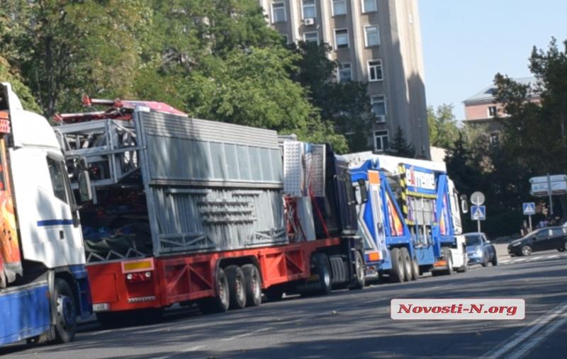 На Соборную площадь Николаева привезли аттракционы