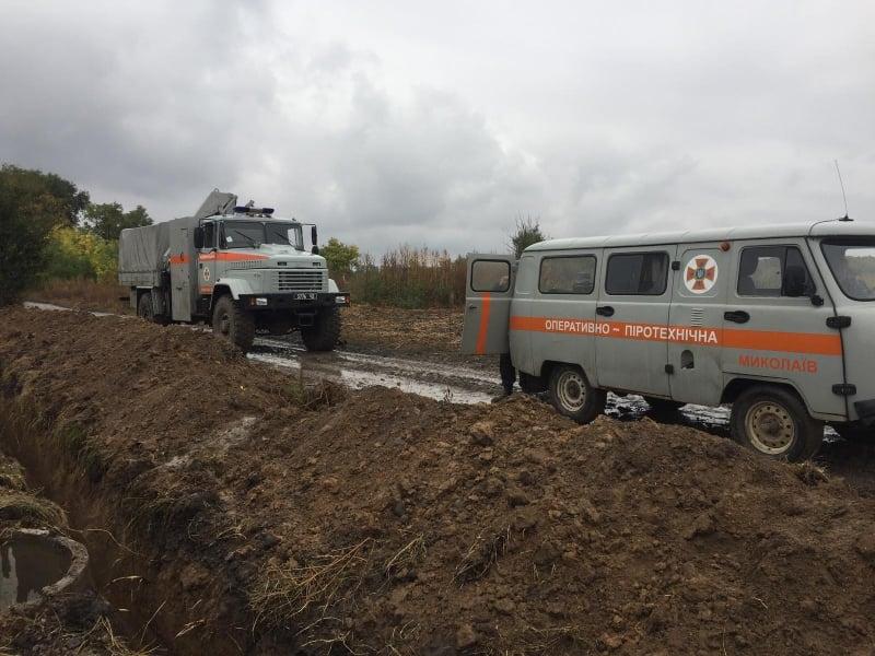 На Николаевщине пиротехники уничтожили авиабомбу и три артснаряда