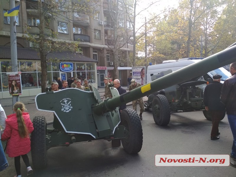 В Николаеве ко Дню защитника Украины прошел марш силовиков