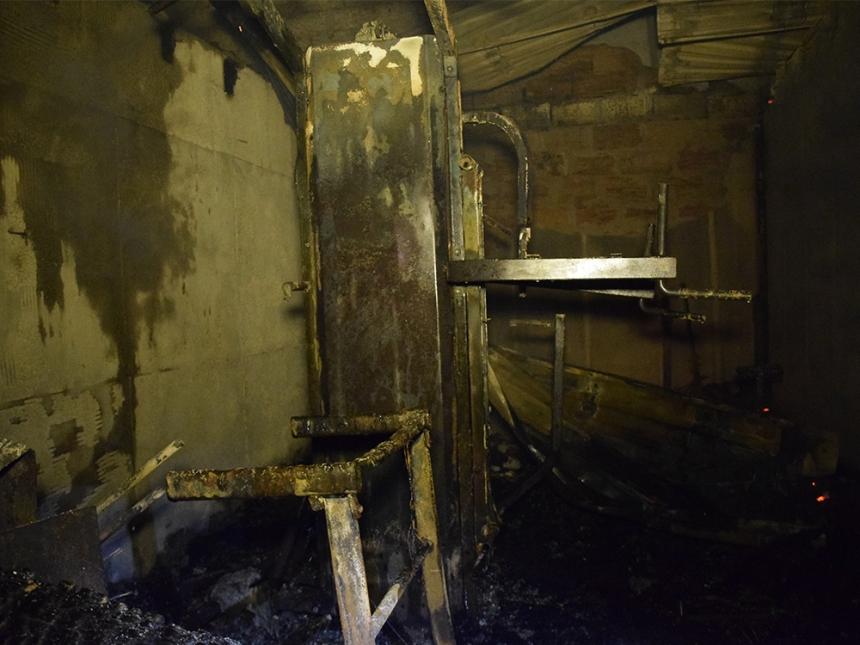 В Николаеве пожар с сауны перекинулся на жилой дом