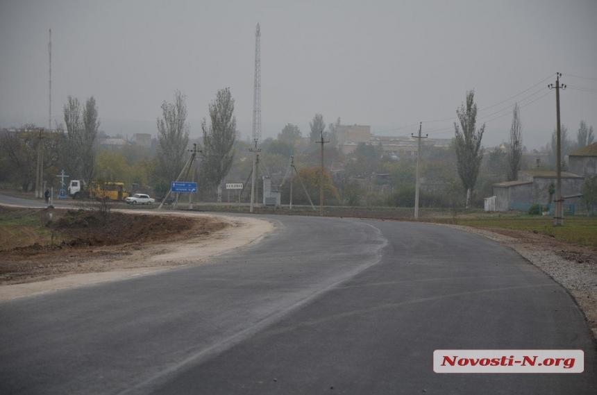 Старая трасса из Николаева в Очаков теперь как новая — проведен капитальный ремонт