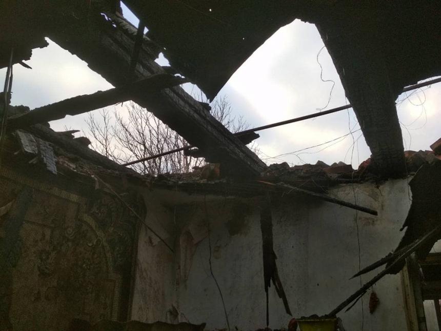 На Николаевщине горел четырехквартирный жилой дом