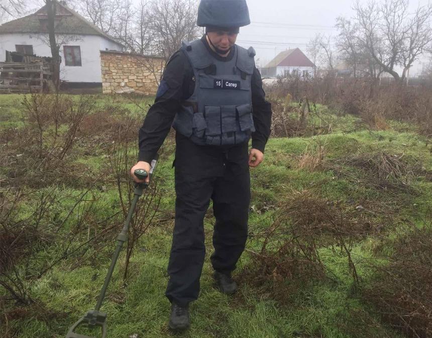 На Николаевщине пиротехники уничтожили артснаряд прошлых войн