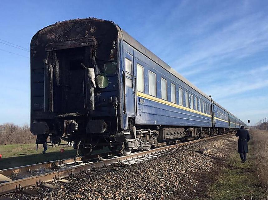 На Николаевщине загорелся пассажирский поезд «Харьков-Херсон»