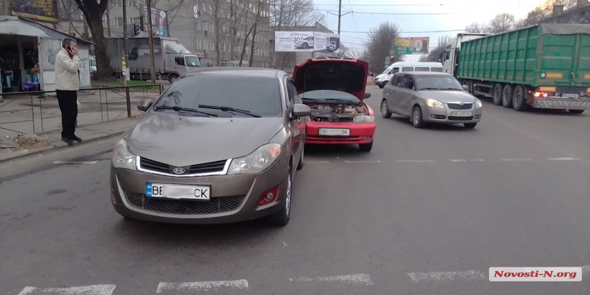В Николаеве «Деу» врезался в «ЗАЗ»