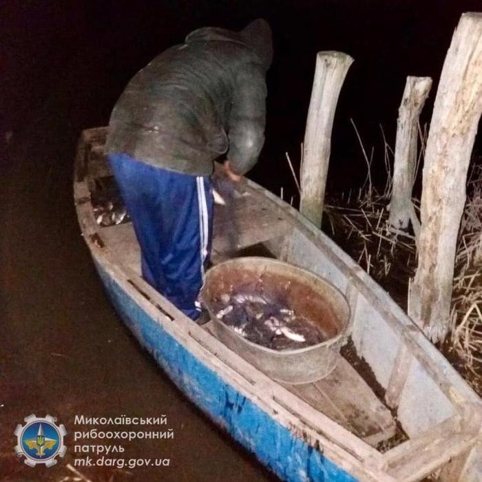 На Николаевщине разоблачили браконьеров, которые ловили рыбу «пауком» и сеткой