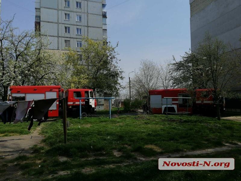 В Николаеве горела квартира в многоэтажке
