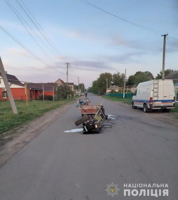 На Николаевщине столкнулись мотоцикл и мотоблок: пострадал 16-летний мотоциклист