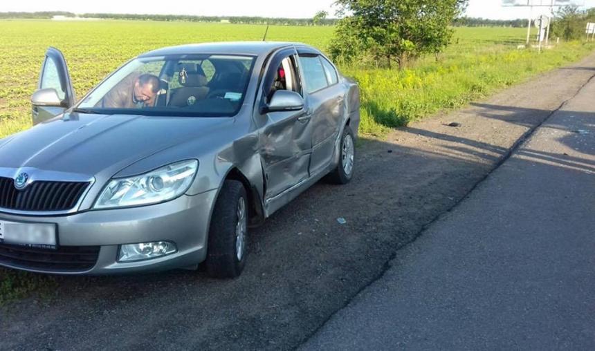 На Николаевщине «Москвич» протаранил «Шкоду»: пострадала женщина