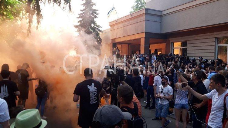 Радикалу Стерненко избирают меру пресечения: под суд стянули силовиков. ТРАНСЛЯЦИЯ