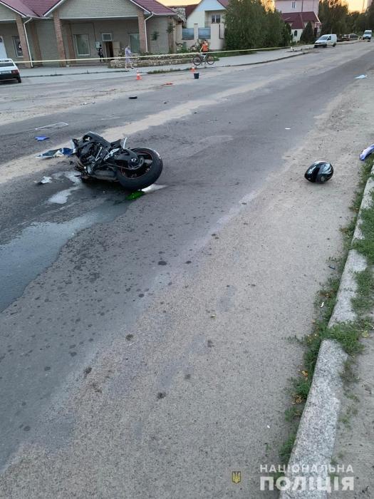 В Вознесенске столкнулись два автомобиля и мотоцикл — пострадал полицейский