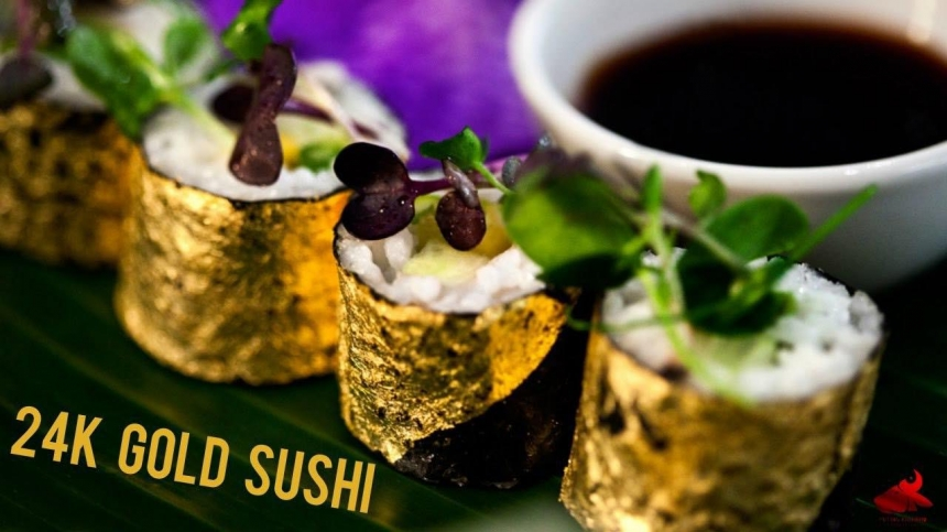 В Николаеве открылся необычный суши-бар, в котором подают роллы с пищевым золотом