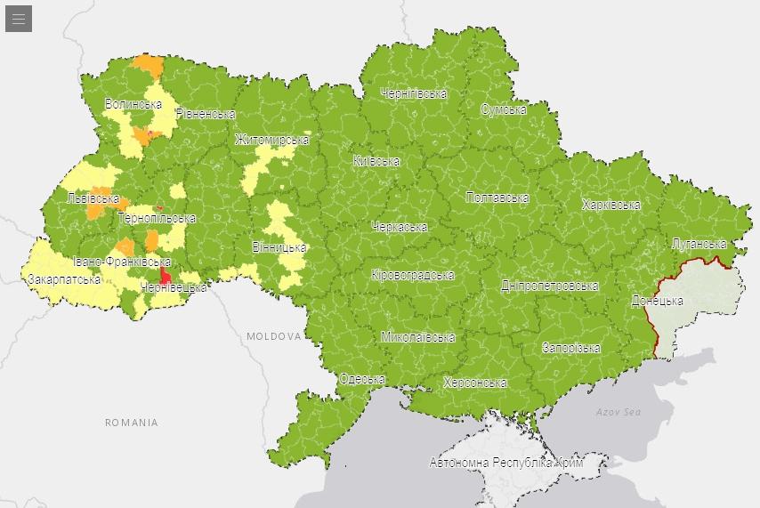 Николаевская область вошла в «зеленую» зону уровня распространения коронавируса