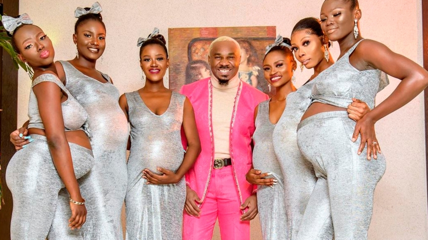 Скандальный бизнесмен явился на свадьбу с шестью беременными от него подругами