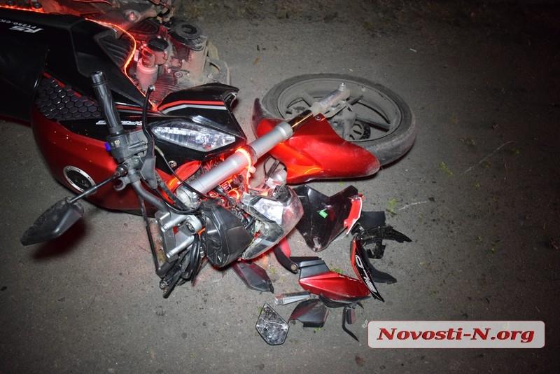В Николаеве Kia сбил мотоциклиста — пострадавший госпитализирован