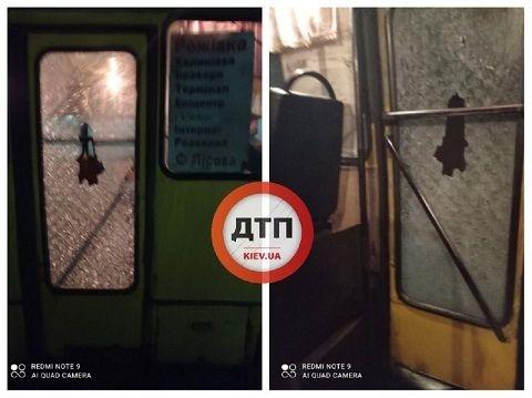 Под Киевом неизвестные расстреляли маршрутку с людьми