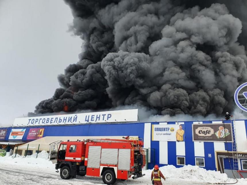 В Первомайске масштабно горит «Эпицентр»