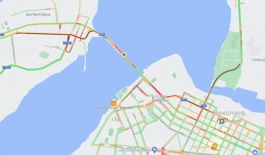 В день города Николаев вновь сковали пробки
