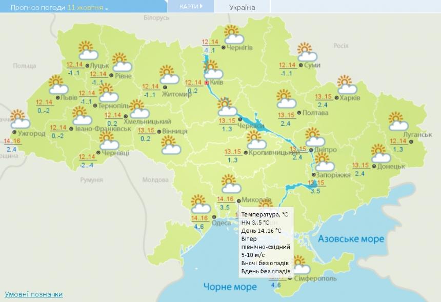 До +16° и без осадков: погода в Николаеве и области в понедельник