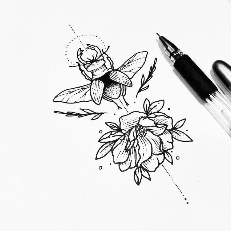Татуировки от мексиканской художницы Соллефе