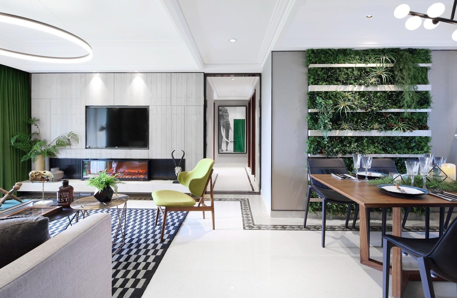 Тропический интерьер квартиры в Китае