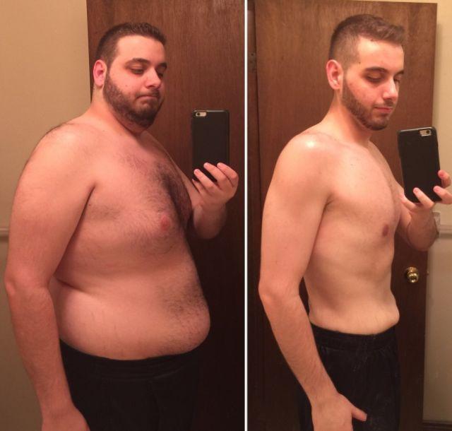 Мужчины пример похудения