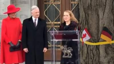 Бельгийского монарха вКанаде приветствовали флагом ФРГ