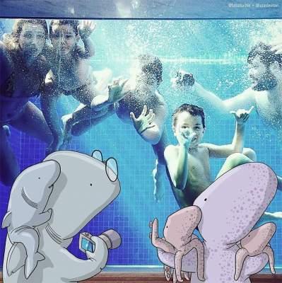 Иллюстратор превращает обычные фотки в забавные картинки