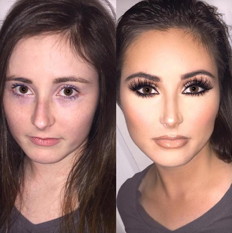 арбалеты сила макияжа фото до и после что