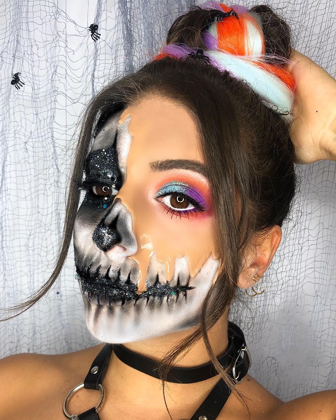 Прикольные картинки на лице на хэллоуин