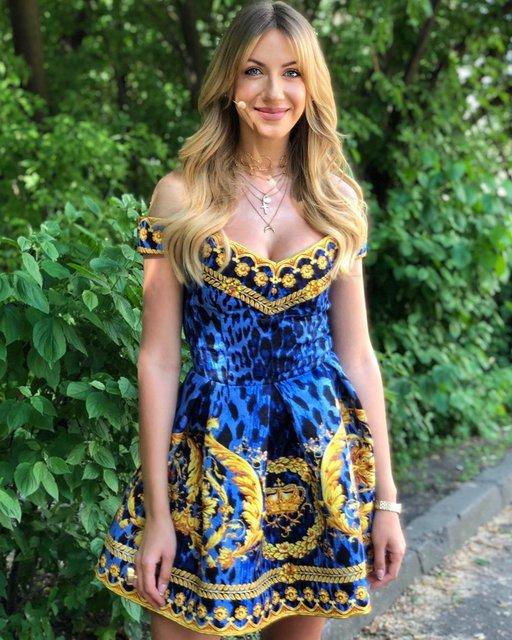 Леся Никитюк восхитила глубоким декольте в мини-платье. ФОТО
