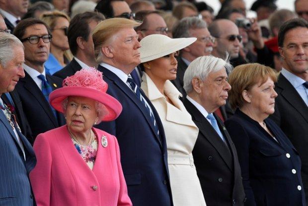 Первые леди мира показали свои образы на праздновании 75-летия высадки в Нормандии. ФОТО