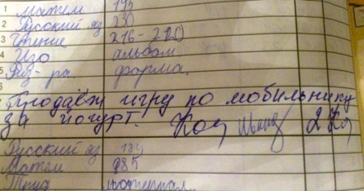 15 отборных записей в дневниках, после которых хочется в школу (фото)