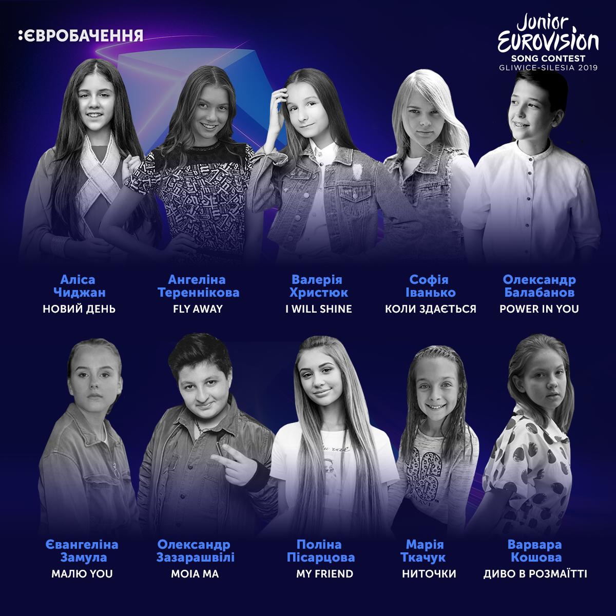 Названы финалисты нацотбора на детское Евровидение-2019