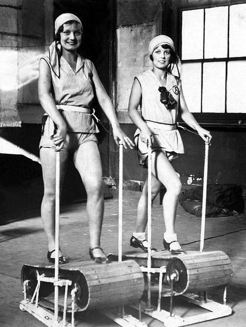 Working it on the treadmill — 1920s