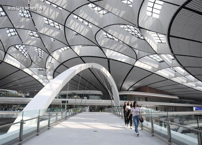 В Китае один из крупнейших аэропортов мира уже готов принять пассажиров. ФОТО