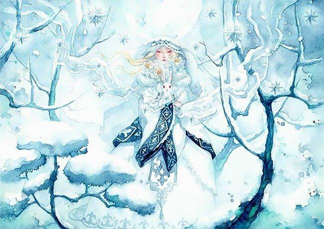 Алиса в японской Стране чудес в акварелях Таупе Суюка